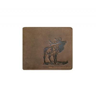 Myslivecká peněženka - jelen troubící 2 Š