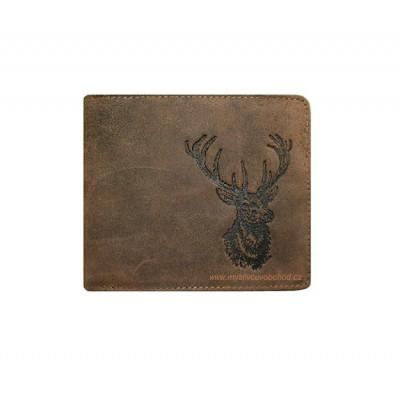 Myslivecká peněženka - hlava jelena Š
