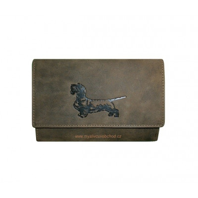 Dámská myslivecká peněženka - jezevčík