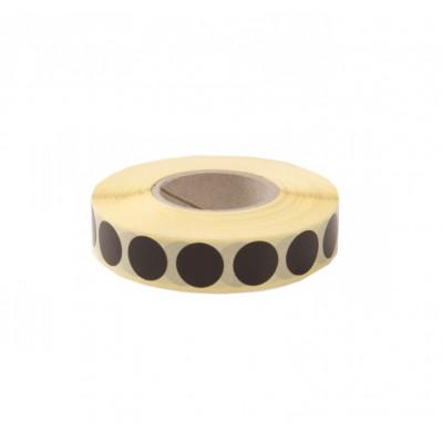 Zálepky na terče 19 mm - černé