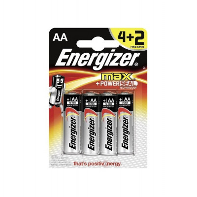 Baterie Energizer MAX + PowerSeal AA - 6 ks