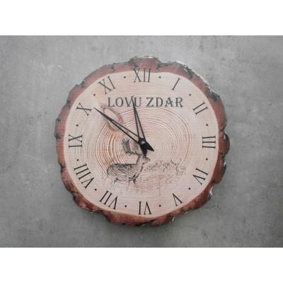 Nástěnné myslivecké hodiny - motiv daněk