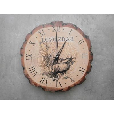 Dřevěné myslivecké hodiny - jelen