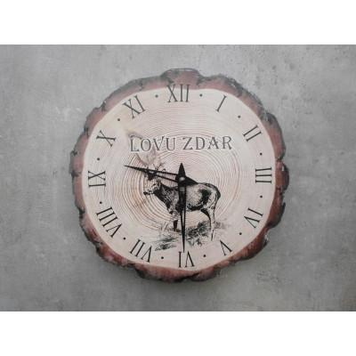 Nástěnné myslivecké hodiny - motiv srnec