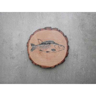 Dřevěný podtácek - kapr