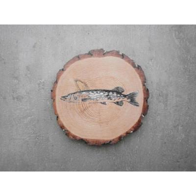 Rybářský podtácek - štika