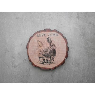 Dřevěný podtácek - zajíc