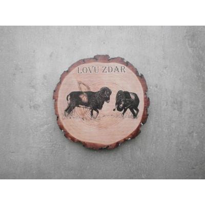 Dřevěný podtácek - mufloni