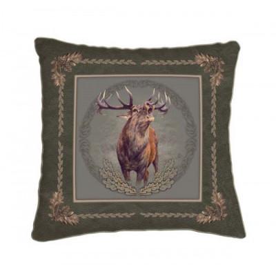 Dekorační polštář - jelen troubící