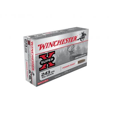 Náboj 243 Win. Winchester Power Point 6,5 g - 20ks