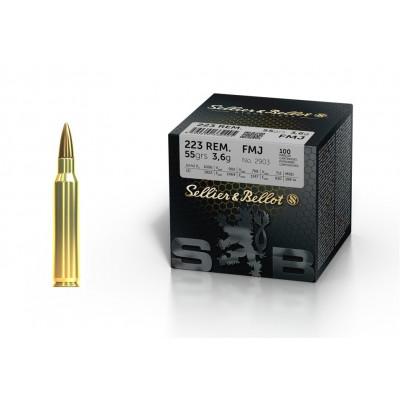 Náboj 223 Rem. Sellier&Bellot FMJ 3,6 g - 100ks