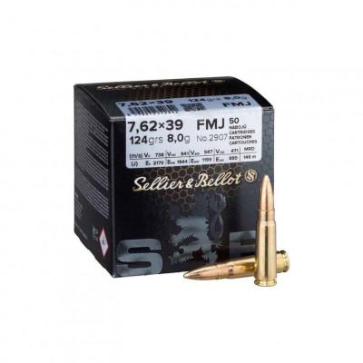 Náboj 7,62x39 Sellier&Bellot FMJ 8,0 g - 50ks